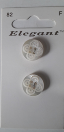 Knopen Elegant wit (82)