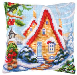 Kussen borduurpakket Fairy Cottage - Collection d'Art    cda-5244