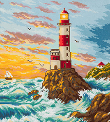 Diamond Painting Lighthouse - Freyja Crystal    fc-alvr-031-075