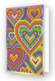 Diamond Dotz Greeting Card Heart Mosaic - Needleart World  nw-ddg-037