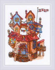 Borduurpakket Fairytale House - RIOLIS    ri-1844