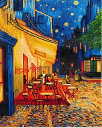 Diamond Dotz Caf? at Night (Van Gogh) - Needleart World    nw-dd10-005