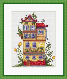 Borduurpakket Spring House - Merejka    mer-k052