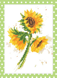 Diamond Painting Watercolor sunflowers - Freyja Crystal    fc-alvs-013