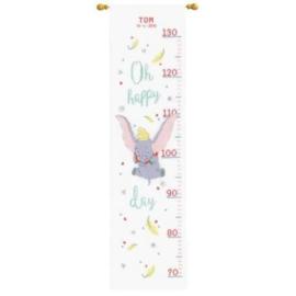 Borduurpakket groeimeter Disney Dumbo Oh happy day Vervaco PN-0178436