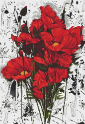 Borduurpakket The Poppies - Luca-S    ls-b2375