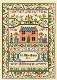 Borduurpakket Moira Blackburn - Country Cottage - Bothy Threads    bt-xs03