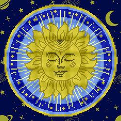 Diamond Art Sun Mandala - Leisure Arts    la-da02-49304