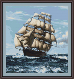 Borduurpakket Ship Under Sail - Luca-S    ls-b438