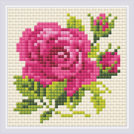 Diamond Mosaic Pink Rose - RIOLIS    ri-am0031