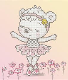 Diamond Dotz Ballet Bear - Needleart World    nw-dd05-057