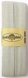 Oaki Doki Tricot de Luxe  / Jersey Biaisband / Licht Grijs 117