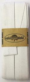 Oaki Doki Tricot de Luxe  / Jersey Biaisband / Wit 300