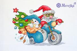Borduurpakket Christmas Racing - Merejka    mer-k121