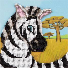 Kralen borduren Zebra - PANNA    pan-08-0240