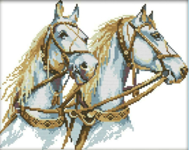 Cross Stitch / Two Horses