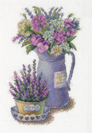 Borduurpakket Flowers of Provence - PANNA    pan-7125-c