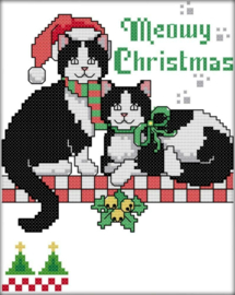 Cross Stitch / Christmas cat