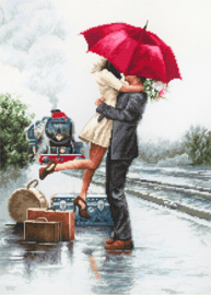 Borduurpakket Couple on Train Station - Luca-S    ls-b2369