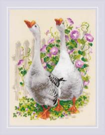 Borduurpakket Geese - RIOLIS    ri-1807