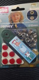 PRYM naaivrij drukknoop  Jersey / rood 12MM