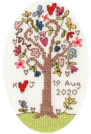Borduurpakket Kim Anderson - Sweet Tree Card - Bothy Threads    bt-xgc02