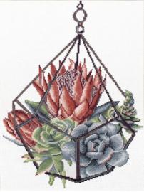 Voorbedrukt borduurpakket Succulent Garden 1 - Needleart World    nw-nc440-096