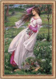 Borduurpakket Windflowers after J. W. Waterhouse's Painting - RIOLIS    ri-p100-055