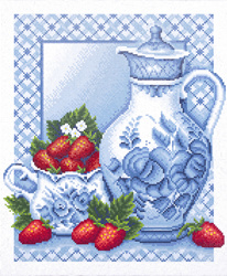 Diamond Painting Ripe Strawberry - Freyja Crystal    fc-alvr-026-038