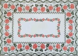 Cross Stitch / Rose tablecloth (91 bij 67)