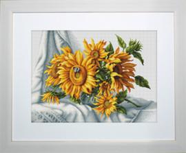 Borduurpakket Sunflowers - Luca-S    ls-b2264