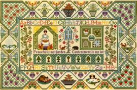 Borduurpakket Moira Blackburn - Peaceful Garden - Bothy Threads    bt-xs11