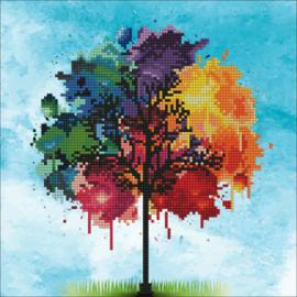 Diamond Art Rainbow Tree - Leisure Arts    la-da02-50456