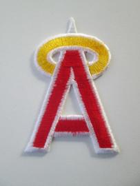 Applicatie De letter A  /  rood met geel