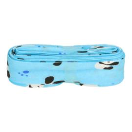 Bosje Biaisband met pandabeer 20 mm / blauw wit zwart
