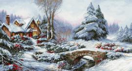 Borduurpakket Winter Landscape - Luca-S    ls-bu5002