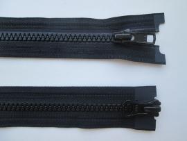 YKK Bloktand 6mm - dubbel deelbaar  /  580 zwart  /  lengte 50 t/m 75 cm