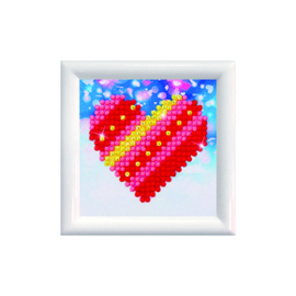 Diamond Dotz Patchwork Heart DD Kit with Frame - Needleart World    nw-dds-007f