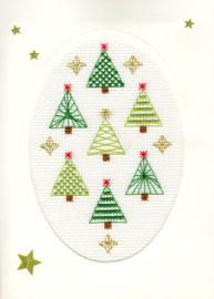 Borduurpakket Christmas Cards - Christmas Forest - Bothy Threads    bt-xmas23