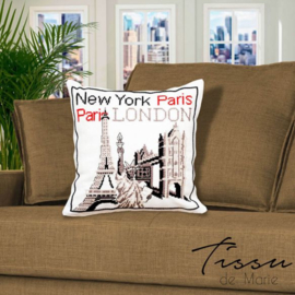Tissu de Marie - Kussenhoes New York