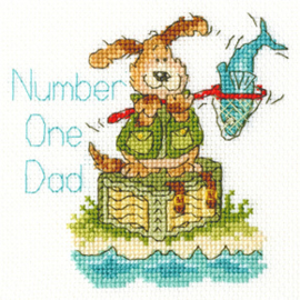 Borduurpakket Margaret Sherry - Number One Dad - Bothy Threads    bt-xgc24