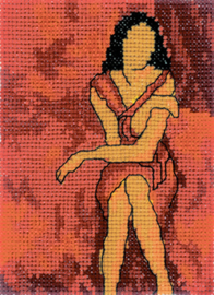 Borduurpakket Girl in Red - RTO    rto-eh341