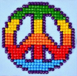 Diamond Dotz Peace Man - Needleart World    nw-dds-010
