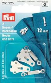 Prym Broek en Rokhaken Zilverkleurig 12 mm 265 225