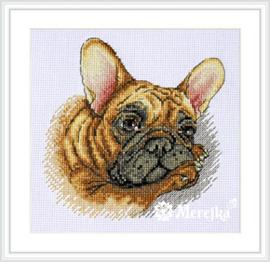 Borduurpakket French Bulldog - Merejka    mer-k114