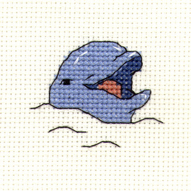 Borduurpakket Smiling Dolphin - Mouseloft    ml-004-808