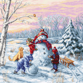 Borduurpakket Merry Christmas - Luca-S    ls-b2358
