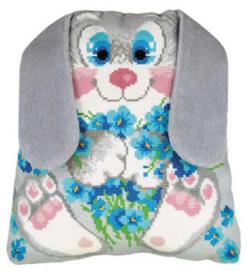 Borduurpakket Bunny Cushion - RIOLIS    ri-1647