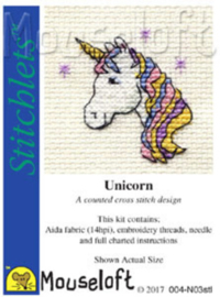 Borduurpakket Unicorn - Mouseloft    ml-004-n03