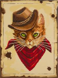 Diamond Painting Cowboy Cat - Freyja Crystal   fc-alvr-245